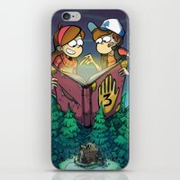 gravity falls iPhone & iPod Skins featuring Gravity Falls by Dinolich