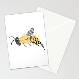 Abstract Bee Stationery Cards
