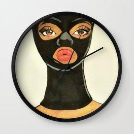 Ski Mask Pin-Up Wall Clock