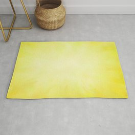 Sunny Yellow Wash of Color Rug