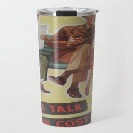 Vintage poster - Loose Talk Travel Mug