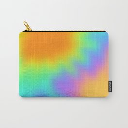 Bright Rainbow Wiggly Gradient Carry-All Pouch