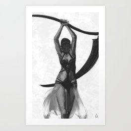 The executioner's daughter Art Print