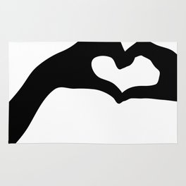 Hearts out of Hands - Silhouette Rug
