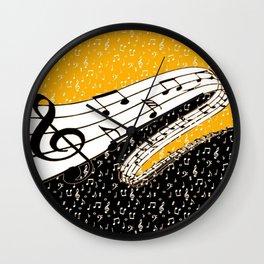 Gold music theme Wall Clock
