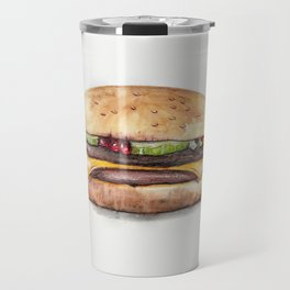 Color pencil Hamburger Travel Mug