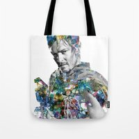 daryl Tote Bags featuring Daryl Dixon by NKlein Design