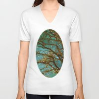 fireflies V-neck T-shirts featuring Magical by The Last Sparrow