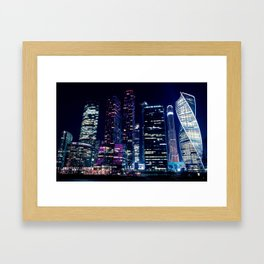 Moscow Skyscrapers Framed Art Print
