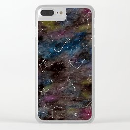 Zodiac Constellations Clear iPhone Case