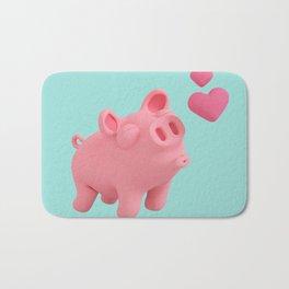 Rosa the Pig blow kisses Bath Mat