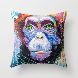 I'm chimpanzee! Throw Pillow