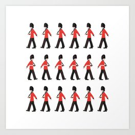 Queens Guard Marching Art Print