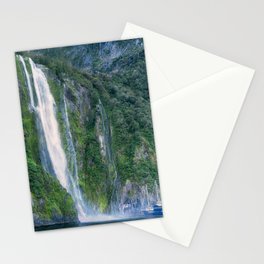 Stirling Falls at Milford Sound Stationery Cards