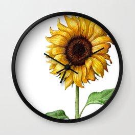 Yellow Sunflower Painting Wall Clock