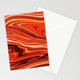 Red Lava Textured Stationery Cards