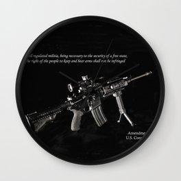 2nd Amendment Wall Clock