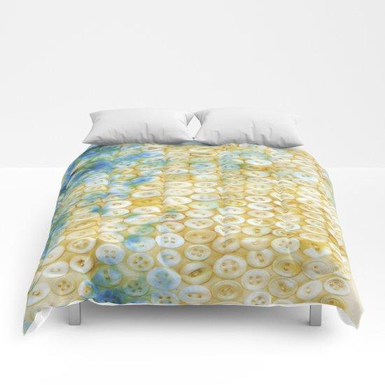 Buttons  - JUSTART ©, digital art Comforters