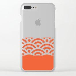 Rainbow Trim Bright Orange Clear iPhone Case