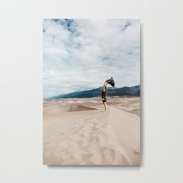 Freedom on Desert Sands Metal Print