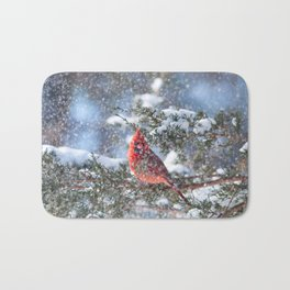 Let It Snow (Northern Cardinal) Bath Mat
