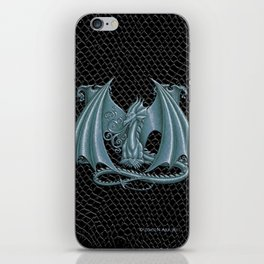 """Dragon Letter M, from """"Dracoserific"""", a font full of Dragons iPhone Skin"""