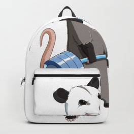 Funny Weight Lifting Fitness Gym Opossum Backpack
