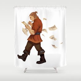 DA crew Varric Shower Curtain