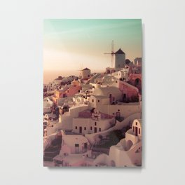 Oia Sunset Metal Print