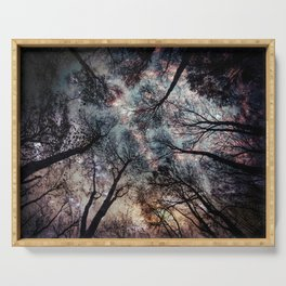 Starry Sky in the Forest Serving Tray
