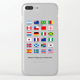 France 2019 Football Soccer Championship Teams Flags Tee Tees Gift idea for Her or Him Clear iPhone Case