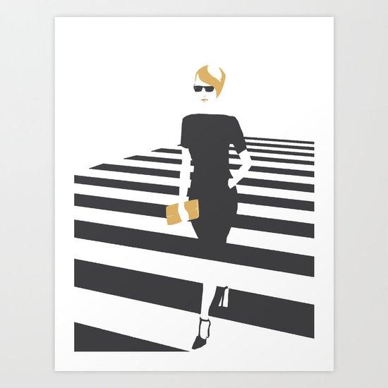 Zebra walk Art Print