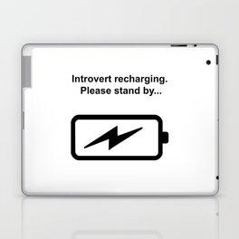 Introvert Batteries Recharging Laptop & iPad Skin