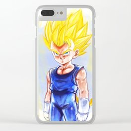 Kid Super Saiyan Vegeta Clear iPhone Case