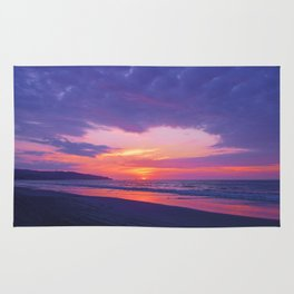 Broken sunset by #Bizzartino Rug