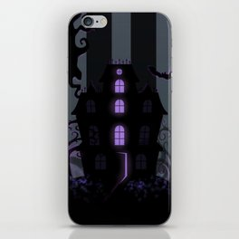 Be it ever so Haunted, there's no place like Home - Dark Gray iPhone Skin