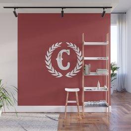 Rustic Red Monogram: Letter C Wall Mural