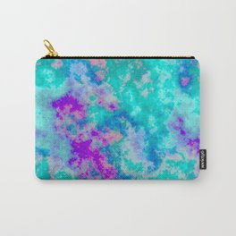 Turquoise and purple cloud art Carry-All Pouch
