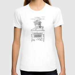QWERTY Typewriter: Christopher Latham Sholes QWERTY Typewriter Patent T-shirt