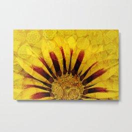 Sunflower Indian Style Mosaic pattern Metal Print