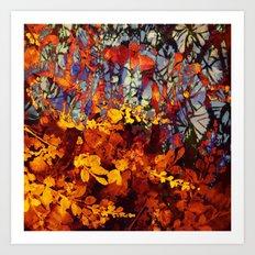 pluie d'automne/fall's rain Art Print