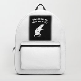 Welcome to NYC Rat Backpack