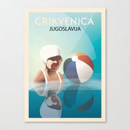 Glory to Yugoslavian design Canvas Print