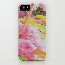 cherry blossom tiles iPhone Case