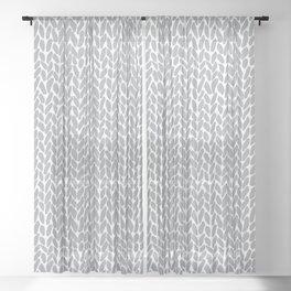 Hand Knit Zoom Grey Sheer Curtain
