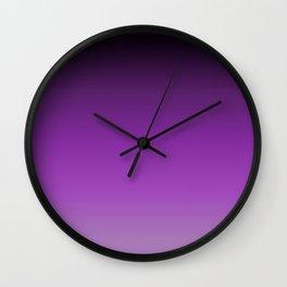 Dark Purple Ombre Wall Clock
