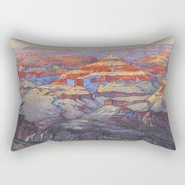 Grand Canyon Hiroshi Yoshida Vintage Japanese Woodblock Print Rectangular Pillow
