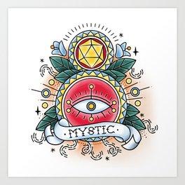 Mystic - Vintage D&D Tattoo Art Print