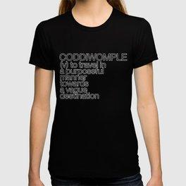 CODDIWOMPLE [White Letters] T-shirt