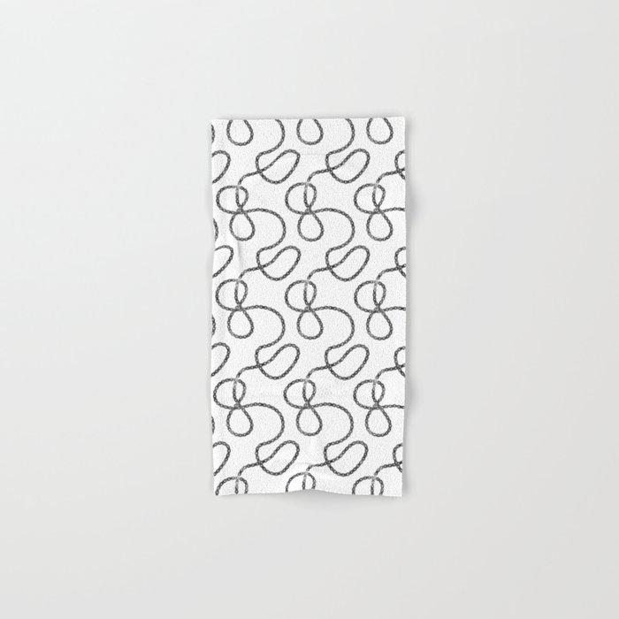 bicycle chain repeat pattern Hand & Bath Towel